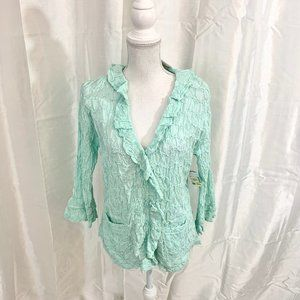 NWT RET:$108    PECK & PECK Textured Top   LARGE